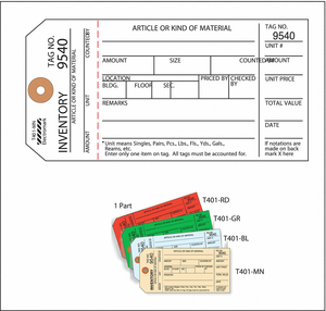INSPECTION TAG CARDSTOCK INVENTORY PK100 by Electromark