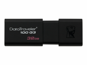 FLASH DRIVE, BLACK, 32 GB, 0.8 IN X 0.4 IN X 2.4 IN by Kingston Technology