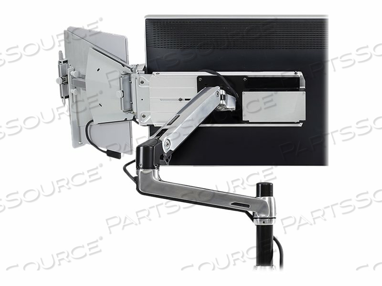 "ERGOTRON TANDEM - MOUNTING KIT ( ARTICULATING ARM, HOLDER ) FOR LCD DISPLAY / TABLET - BRUSHED ALUMINUM - SCREEN SIZE: 20"" - 27"" - DESK-MOUNTABLE by Ergotron, Inc."