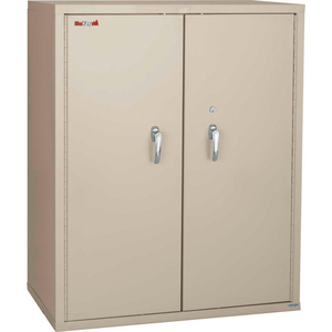 """FIREPROOF STORAGE CABINET W/END TAB INSERTS, 36""""WX19-1/4""""DX44""""H, PARCHMENT, ASSEMBLED by Fire King"""