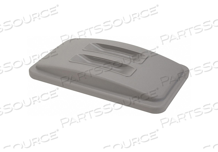 TRASH CAN TOP FLAT SNAP-ON CLOSURE GRAY by Tough Guy