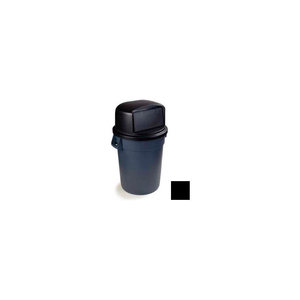 BRONCO ROUND WASTE CONTAINER DOME LID WITH HINGED DOOR FOR 32 GALLON, BLACK by Carlisle