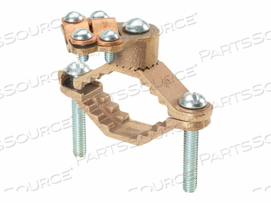 PANDUIT STRUCTURED GROUND MECHANICAL CONNECTORS BRONZE GROUND CLAMP, HEAVY DUTY - GROUNDING CLAMP KIT by Panduit