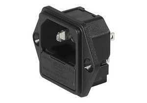 250VAC 10A POWER ENTRY MODULE WITHOUT LINE FILTER - BLACK by Schurter