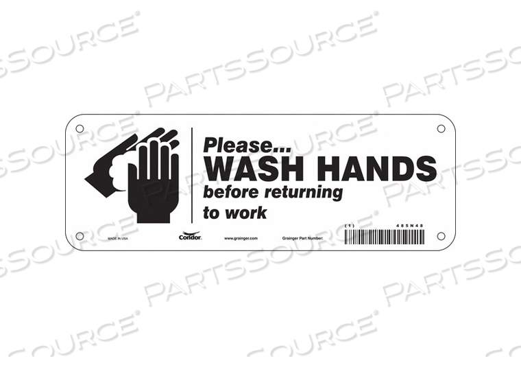 SAFETY SIGN 10 WX3-1/2 H 0.055 THICK by Condor