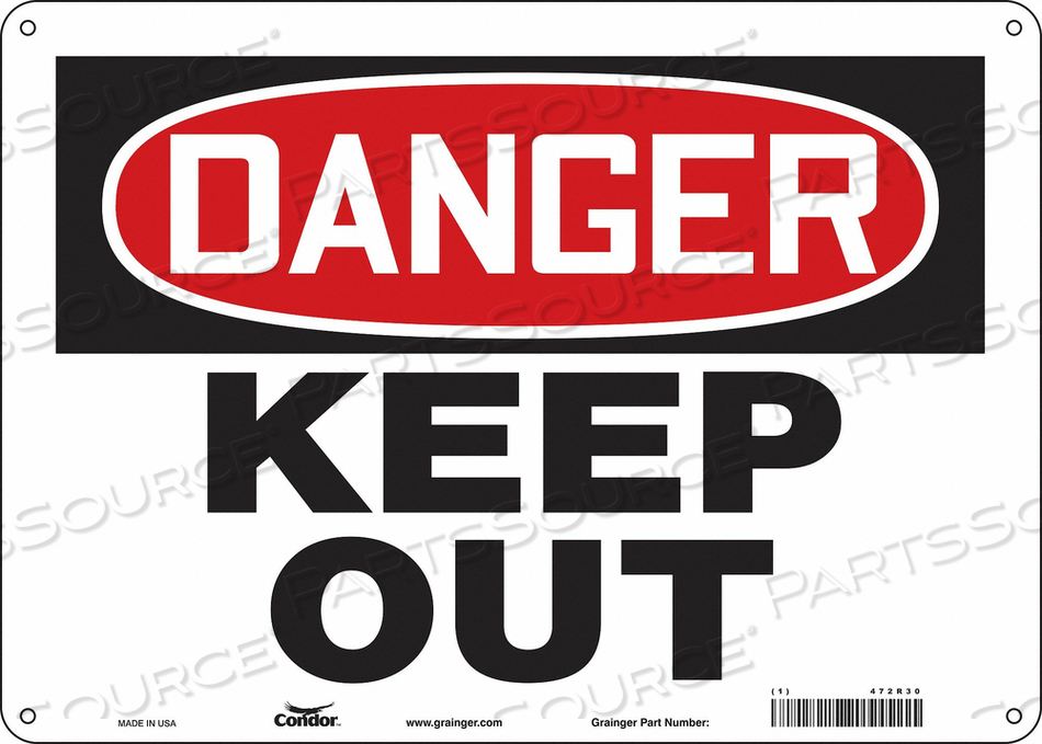J6935 SAFETY SIGN 14 W 10 H 0.032 THICKNESS by Condor