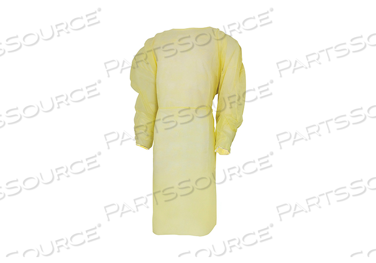 PROTECTIVE PROCEDURE GOWN, ONE SIZE FITS MOST, YELLOW, NONSTERILE, DISPOSABLE (12/CS) by McKesson