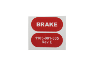 BRAKE LABEL, RED by Stryker Medical