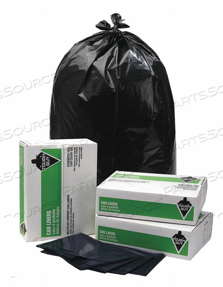 TRASH BAG 42 GAL. BLACK PK40 by Tough Guy