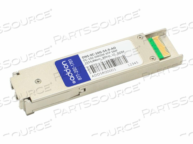 ADDON - XFP TRANSCEIVER MODULE (EQUIVALENT TO: CISCO ONS-XC-10G-54.9) - DWDM - LC SINGLE-MODE - UP TO 49.7 MILES - OC-192 - CHANNEL: 28 - 1554.94 NM