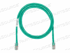 PANDUIT NETKEY - PATCH CABLE - RJ-45 (M) TO RJ-45 (M) - 6 FT - UTP - CAT 5E - IEEE 802.3AF/IEEE 802.3AT/IEEE 802.3BT - SNAGLESS, STRANDED - GREEN by Panduit