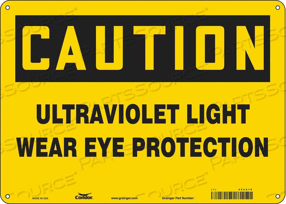 RADIATION SAFETY SIGN ALUMINUM 10 H by Condor