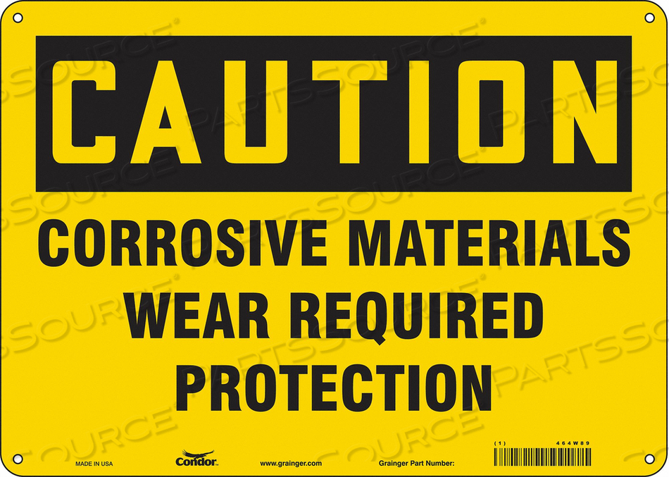 J6946 SAFETY SIGN 14 W 10 H 0.055 THICKNESS by Condor