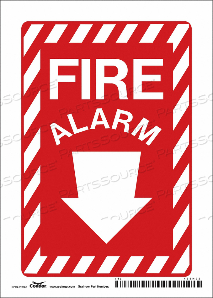 SAFETY SIGN 3-1/2 WX14 H 0.004 THICK by Condor