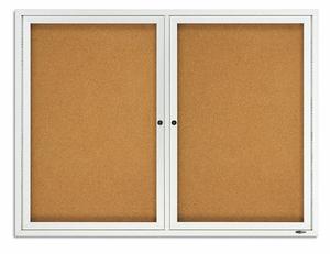 ENCLOSED BULLETIN BOARD CORK 48 X 36 IN. by Quartet