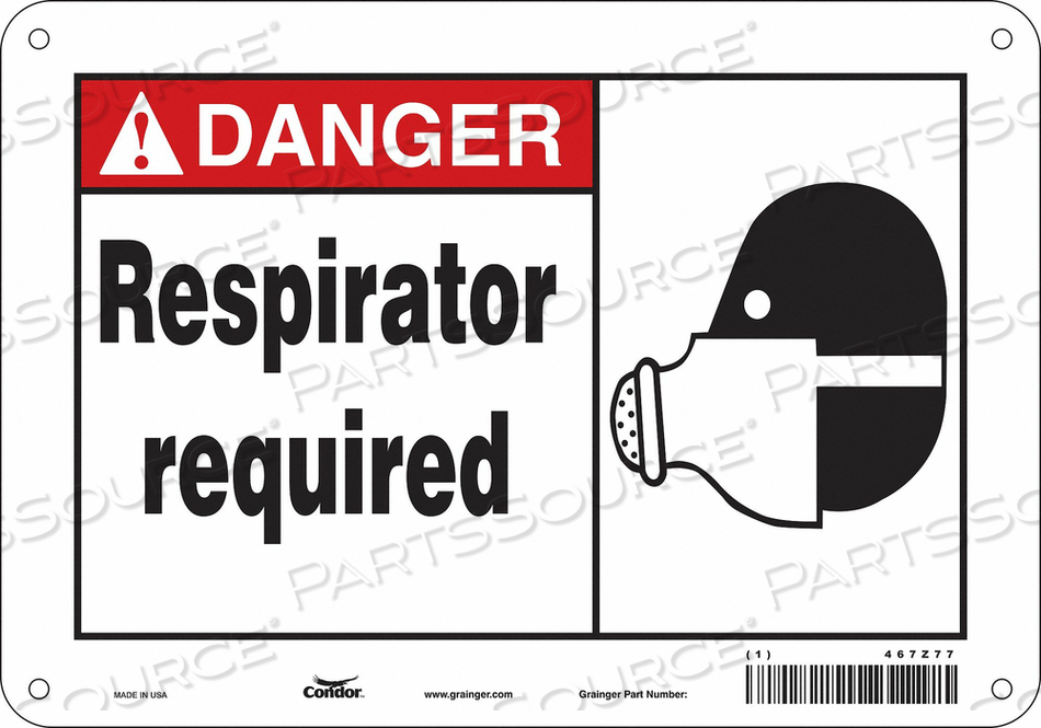 SAFETY SIGN 10 W 7 H 0.010 THICKNESS by Condor