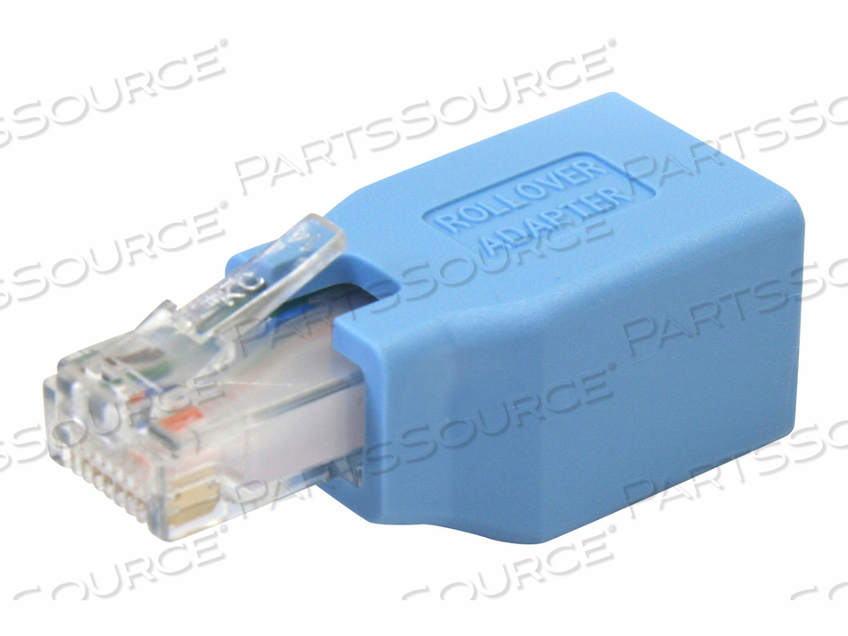 STARTECH.COM CISCO CONSOLE ROLLOVER ADAPTER FOR RJ45 ETHERNET CABLE - NETWORK ADAPTER CABLE - RJ-45 (M) TO RJ-45 (F) - BLUE by StarTech.com Ltd.