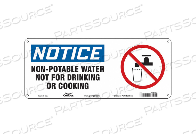 SAFETY SIGN 17 W X 7 H 0.055 THICK by Condor