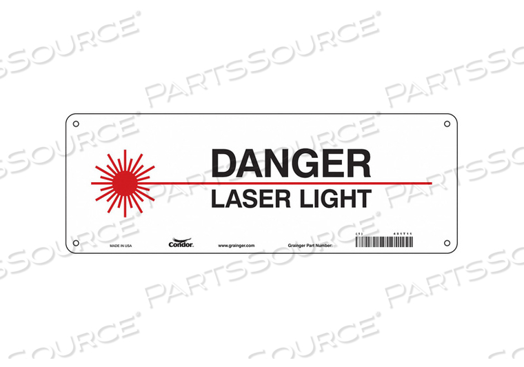 LASER WARNING 14 W 5 H 0.032 THICK by Condor