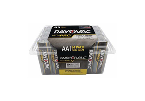 BATTERY, AA, ALKALINE, 1.5VDC, 2620 MAH (PACK OF 24) by Rayovac