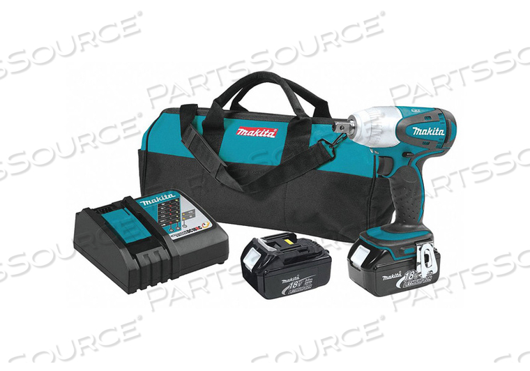 CORDLESS IMPACT WRENCH KIT 6-1/2 IN L by Makita