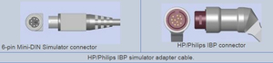 0.3M HP/PHILIPS IBP CONNECTOR ECG ADAPTER CABLE by Advantage Medical Cables, Inc (AMC)