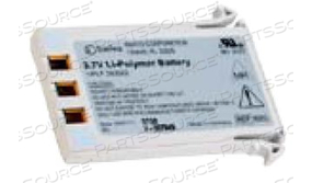 BATTERY RECHARGEABLE, LITHIUM POLYMER, 3.7V, 1.8 AH (INVIVO PM) by Philips Healthcare (Medical Supplies)