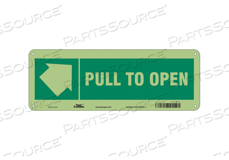 SAFETY SIGN 14 W X 5 H 0.070 THICK by Condor
