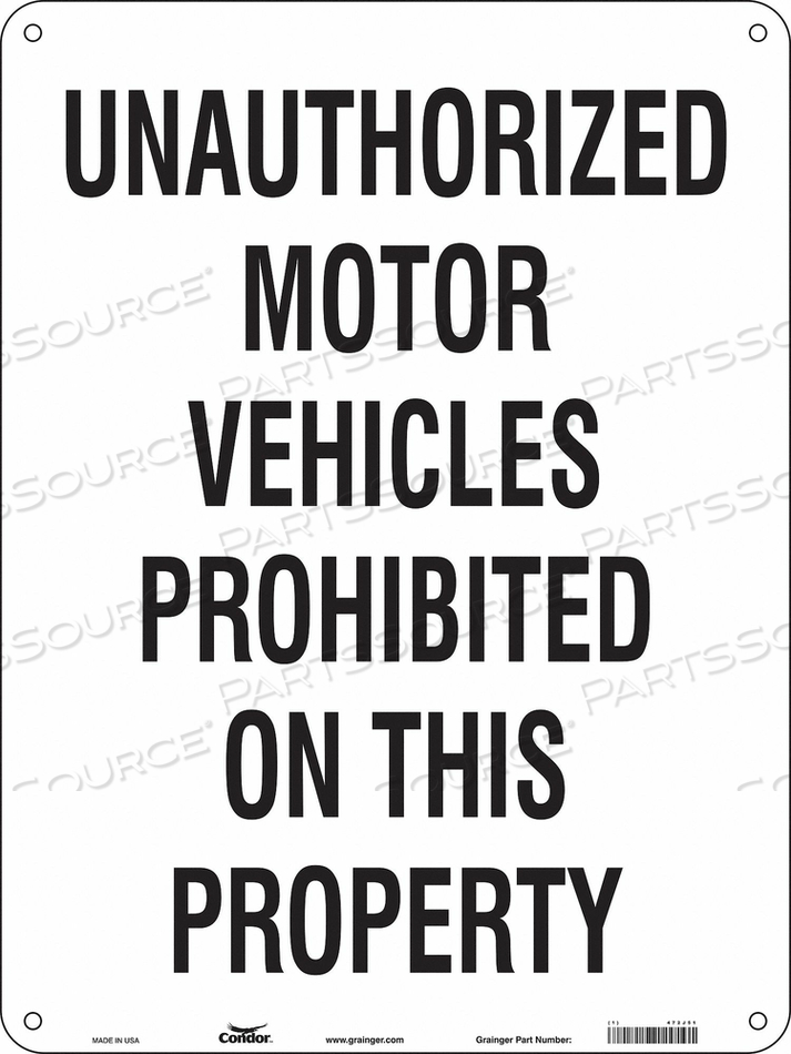 SAFETY SIGN 18 W 24 H 0.055 THICKNESS by Condor