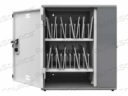 ANTHRO YES - CABINET UNIT (CHARGE ONLY) FOR 20 TABLETS - POWDER-COATED STEEL, ABS POLYMER - METALLIC GRAY, POLAR WHITE - WALL-MOUNTABLE