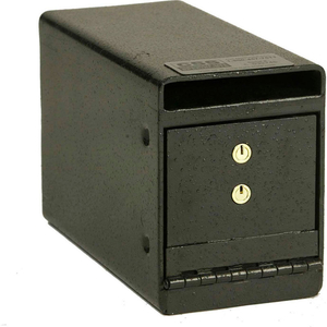 "UNDERCOUNTER DROP SAFE - KEY LOCK - 6""W X 12""D X 8""H - 0.21 CU. FT. - BLACK by Fire King"