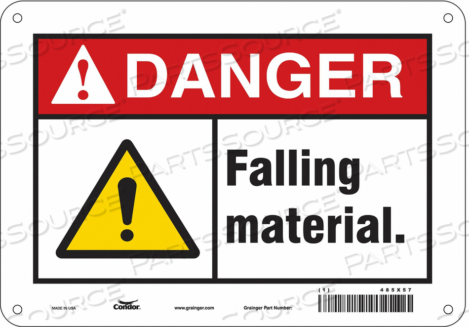 CONSTRUCTION SIGN 10 W 7 H 0.032 THICK by Condor