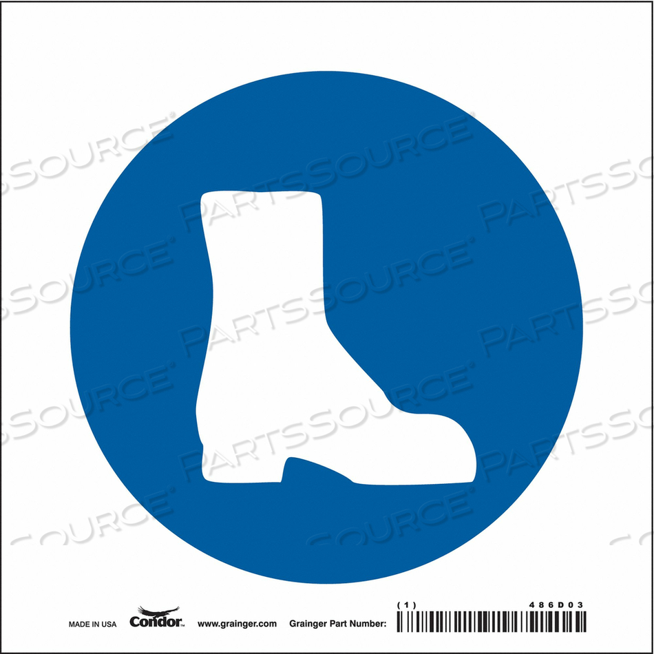 SAFETY SIGN 7 W 7 H 0.004 THICKNESS by Condor