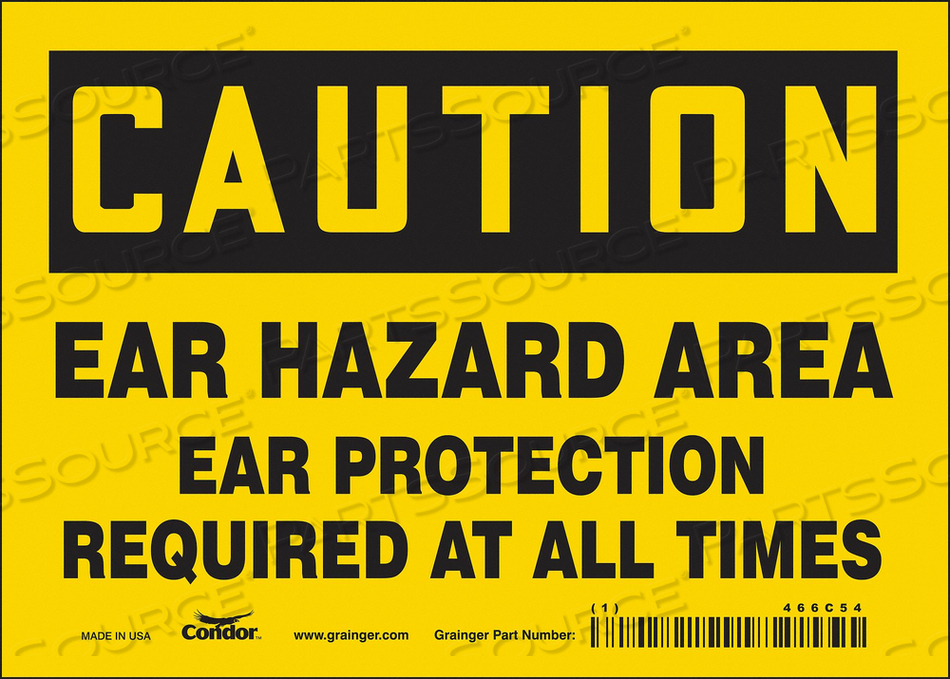 SAFETY SIGN 7 W 5 H 0.004 THICKNESS by Condor