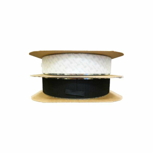 """VELCRO BRAND BLACK HOOK WITH ACRYLIC ADHESIVE 4"""" X 75' by Industrial Webbing Corp."""