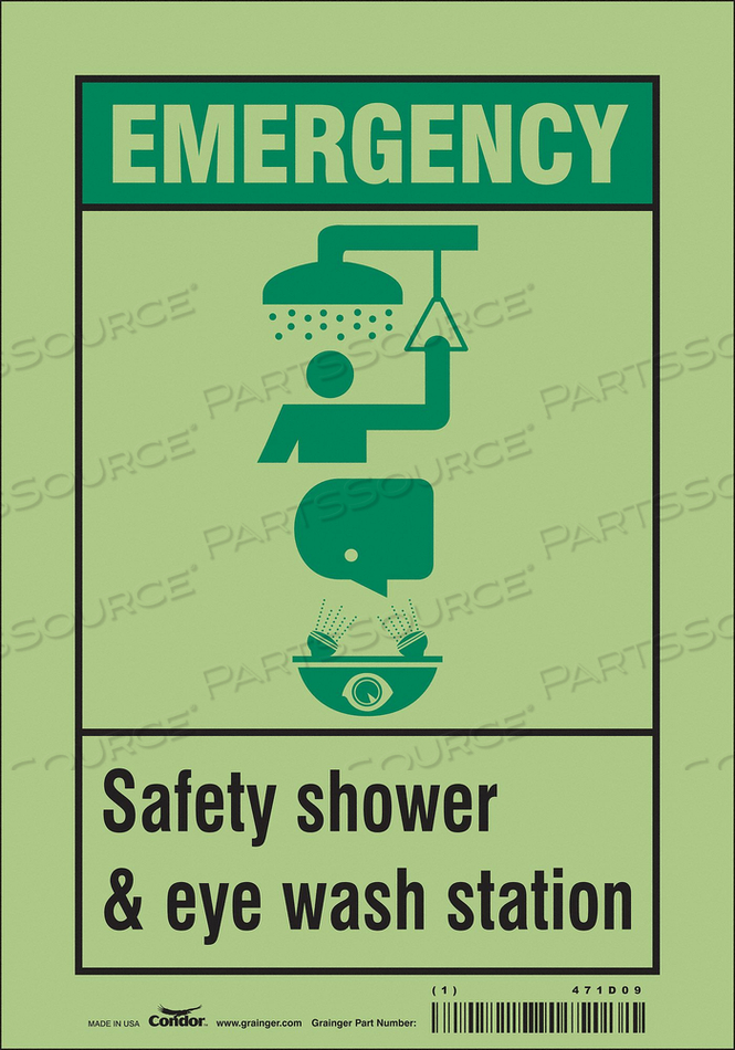 SAFETY SIGN 7 W X 10 H 0.010 THICK by Condor