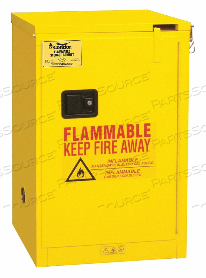 FLAMMABLE LIQUID SAFETY CABINET 12 GAL. by Condor