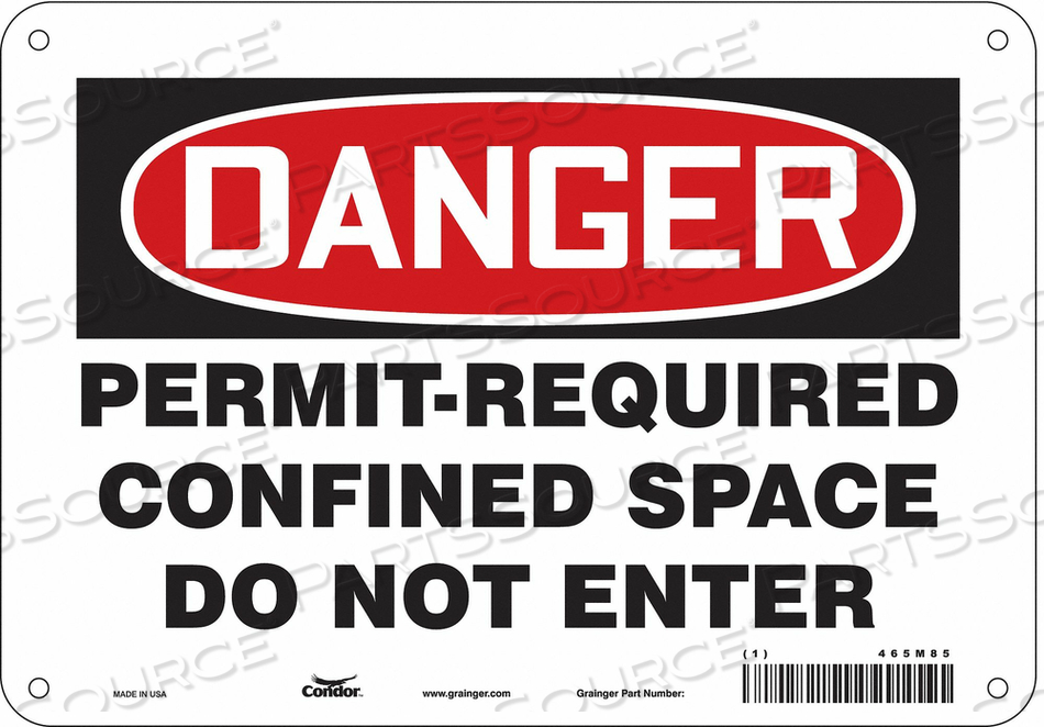 J6941 SAFETY SIGN 7 H 10 W PLASTIC by Condor