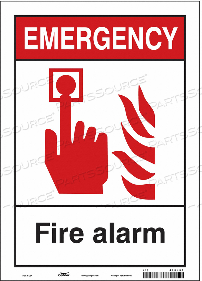 SAFETY SIGN 9 WX12 H 0.040 THICKNESS by Condor