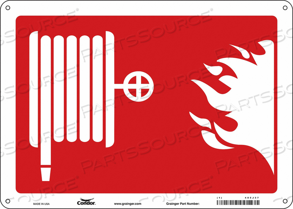 SAFETY SIGN 14 WX10 H 0.070 THICK by Condor