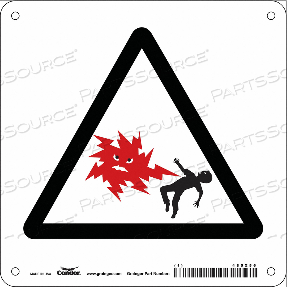ELECTRICAL SIGN 7 W 7 H 0.032 THICKNESS by Condor