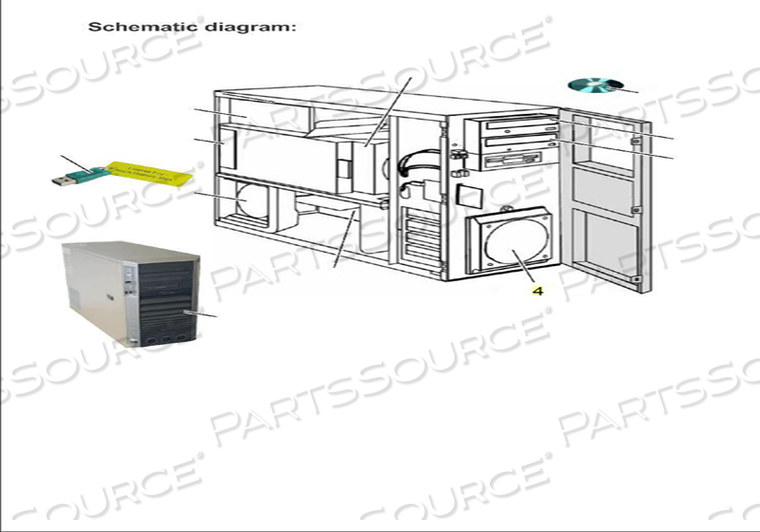 HOUSING PART FRONT FAN CAGE KIT by Siemens Medical Solutions