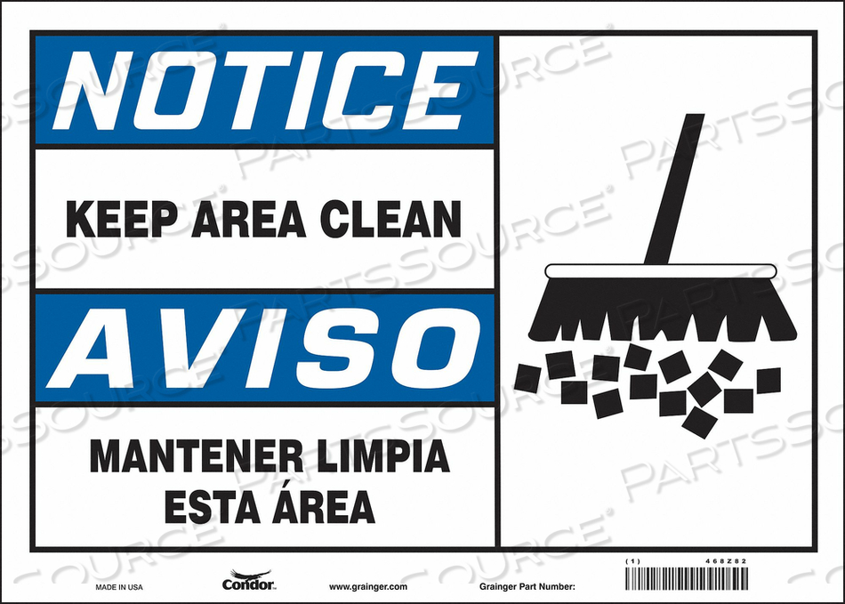 SAFETY SIGN 14 10 0.004 THICKNESS by Condor