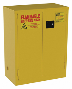 FLAMMABLE SAFETY CABINET 28 GAL. YELLOW by Jamco