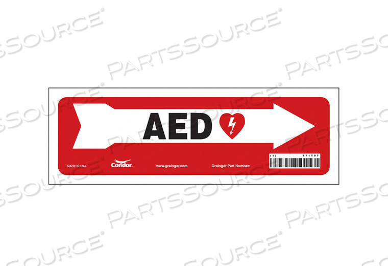 FIRST AID SIGN 12 W X 4 H 0.004 THICK by Condor