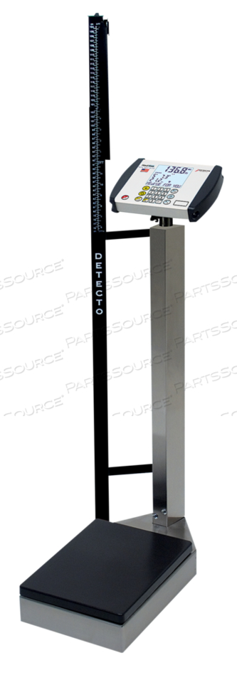 PHYSICIAN'S SCALE, DIGITAL, WAIST HIGH, STAINLESS STEEL, HEIGHT ROD, MV1 INDICATOR