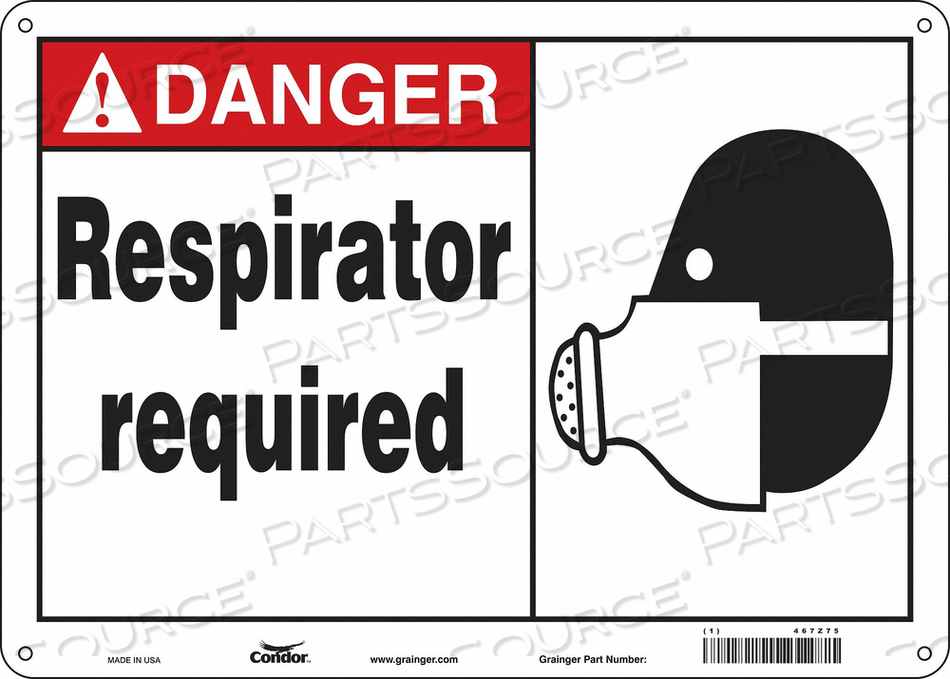 SAFETY SIGN 14 W 10 H 0.032 THICKNESS by Condor