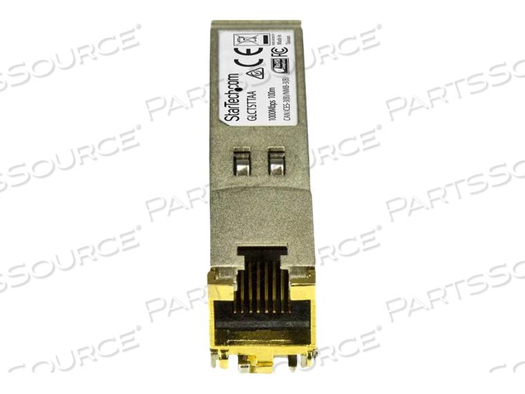 STARTECH.COM CISCO GLC-T COMPATIBLE SFP MODULE - TAA - LIFETIME WARRANTY - SFP (MINI-GBIC) TRANSCEIVER MODULE (EQUIVALENT TO: CISCO GLC-T) - GIGE - 1000BASE-T - RJ-45 - UP TO 328 FT - TAA COMPLIANT by StarTech.com Ltd.