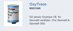 OXYGEN SENSOR, 1 TO 10 MM, OXYTRACE by Draeger Inc.