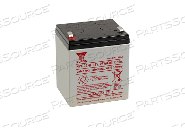 LARGE CELL BATTERY, LEAD ACID, 12V, SLA, 5 AH, FASTON (F2)